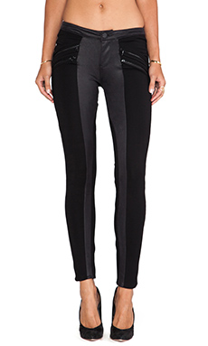 Black Orchid Faux Suede Leggings in After Dark