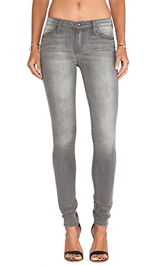Black Orchid Mid Rise Skinny in Ash