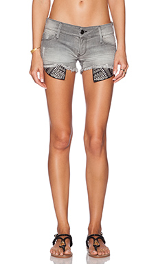 Black Orchid Lola Studded Short in Cold As Ice