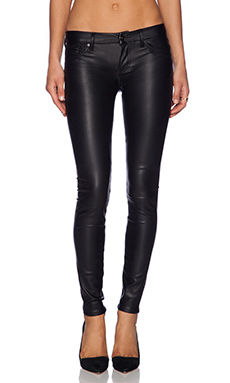 Black Orchid Leather Skinny in Black Night