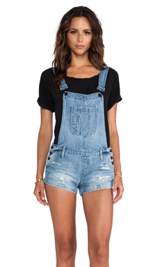 Black Orchid Overall Short in Solitaire