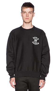 Born x Raised Lames Crewneck in Black