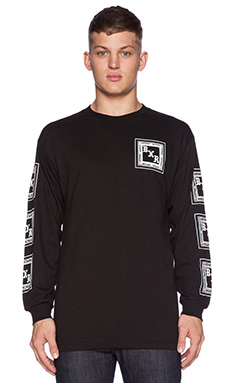 Born x Raised BXR Flag L/S Tee in Black