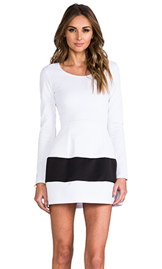 Boulee Marilyn Dress in White & Black