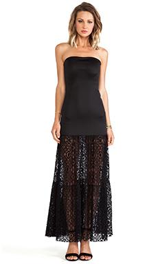 Boulee Stella Maxi Dress in Black Lace
