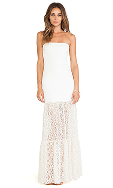 Boulee Stella Maxi Dress in Lace White