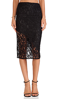 Boulee Sasha Lace Skirt in Black