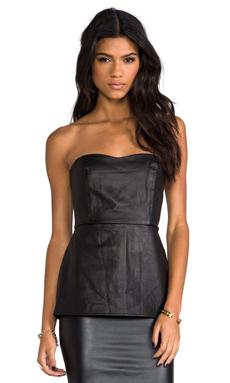 Boulee Hailey Vegan Leather Top in Black