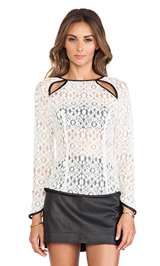 Boulee Lily Top in Ivory Lace