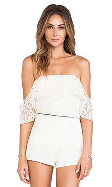 Boulee Emily Top in Ivory Lace White