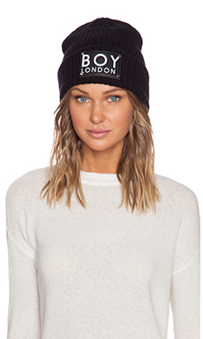 BOY London Patch Beanie in Black
