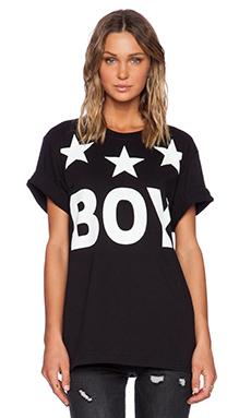 BOY London Tri-Star Tee in Black