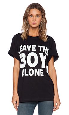 BOY London Leave BOY Alone Tee in Black
