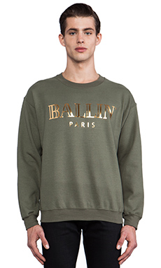 Brian Lichtenberg Ballin Sweatshirt in Military Green/Gold Foil