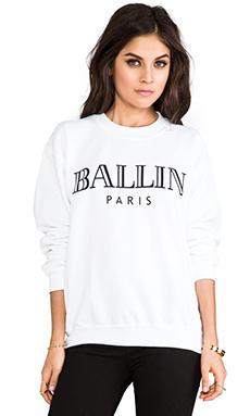Brian Lichtenberg Ballin Sweatshirt in White/Black