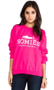 Brian Lichtenberg Homies Sweatshirt in Hot Pink/White
