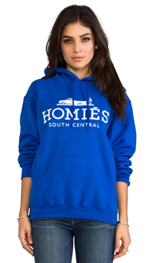 Brian Lichtenberg Homies Pullover Hoodie in Royal Blue/White