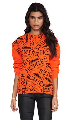 Brian Lichtenberg Homies Graffiti Sweatshirt in Orange/Black