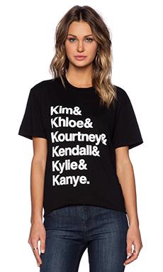 Brian Lichtenberg Kardashians Tee in Black & White