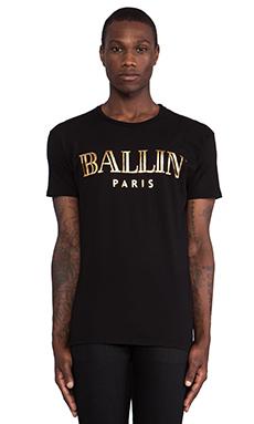 Brian Lichtenberg Ballin Tee in Black & Gold Foil
