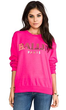 Brian Lichtenberg Ballin Sweatshirt in Hot Pink & Gold Foil