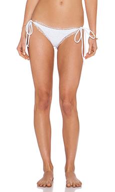 BEACH RIOT Croatia Bikini Bottom in Mykonos White