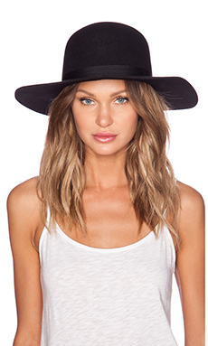 Brixton Magdalena Top Hat in Black