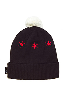 Black Scale Luminary Beanie in Black