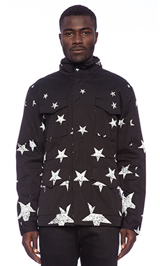 Black Scale Wurster Jacket in Black