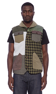 Black Scale Hoyt Vest in Olive