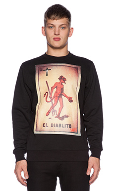 Black Scale Save Us Crewneck in Black