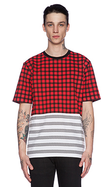 Black Scale Kaskar Tee in Red