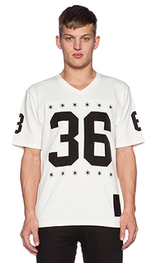 Black Scale Blvck Football Jersey in White