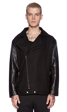 B:Scott Moto Varsity Jacket in Black