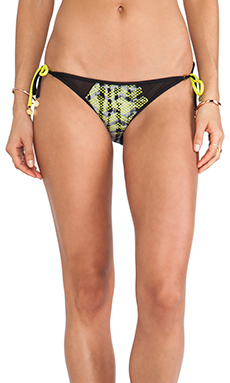 b.swim Glimmer Tie-Side Bottoms in Day Tripper Gecko