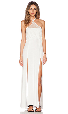 Bettinis Lace Maxi Dress in White