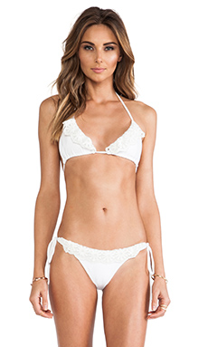 Bettinis Flirt Triangle Top in White Wash