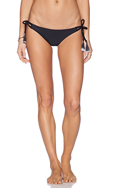 Bettinis Strappy Side Tie Bikini Bottom in Black