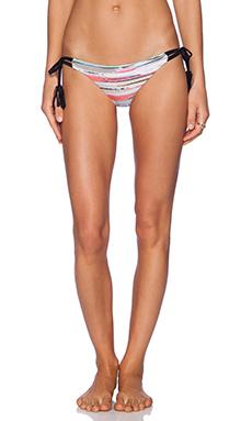 Bettinis Strappy Tie Bikini Bottom in Multi & Black
