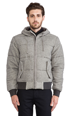 Burkman Bros. Quilted Fleece Jacket in Grey Heather