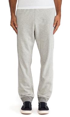 Burkman Bros. Rib Sweatpant Jacquard Knit in Grey/Natural