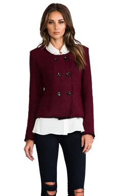 BY ZOE Savi Boucle Jacket in Cherry