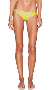 Caffe Bikini Bottom in Yellow & Grey