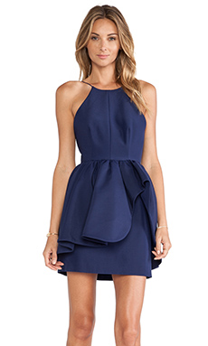 Cameo Alone Tonight Dress in Navy Blue