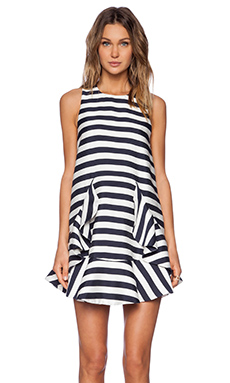 Cameo Oceans Dress in Bold Stripe