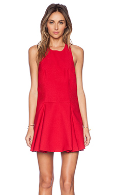 Cameo Folding Shadows Dress in Scarlet Red