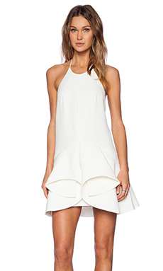 Cameo Warm Thoughts Ruffle Halter Dress in Ivory