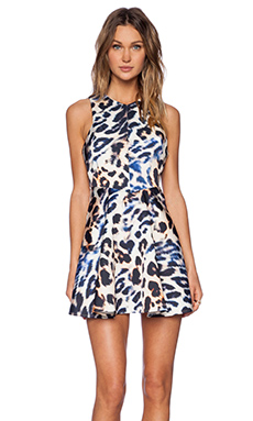 Cameo No Diggity Fitted Flare Dress in Leopard