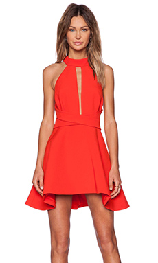 C/MEO Breaking Hearts Dress in Scarlet