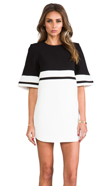 Cameo We Are Young Dress in Black/White